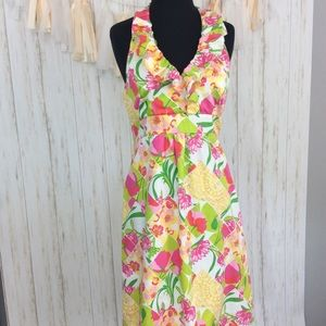 Lilly Pulitzer Patchwork Halter Dress Sz 6